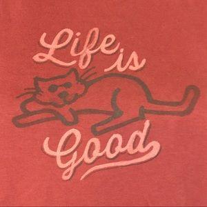 0f08769ba54191 Life Is Good Tops - Life Is Good Cat T Shirt NWOT